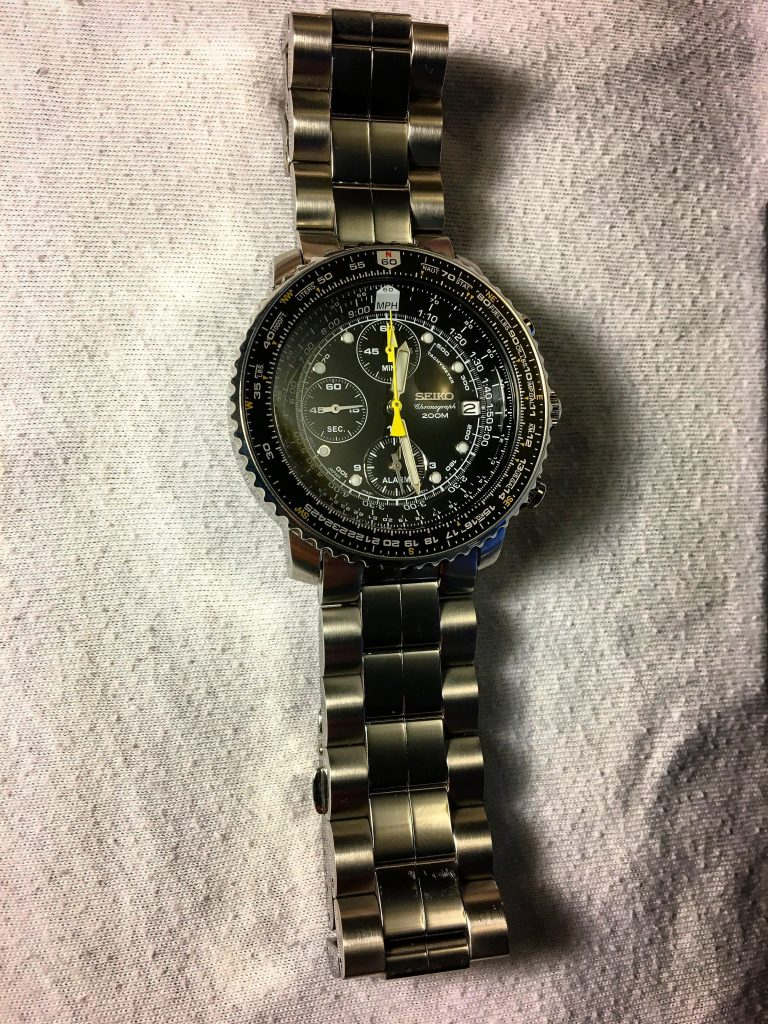 Seiko Flightmaster Chronograph with yellow hands