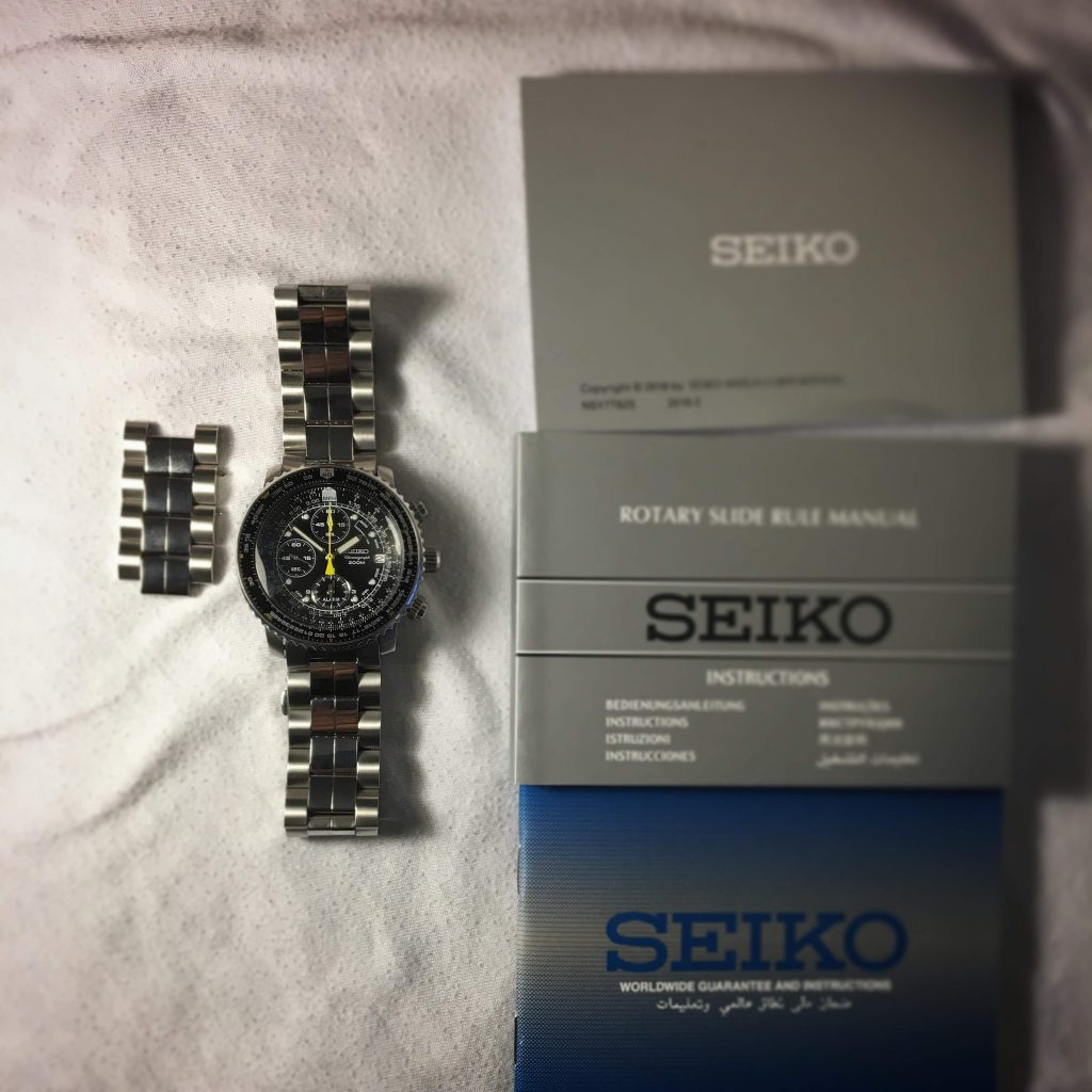 Seiko Flightmaster with papers