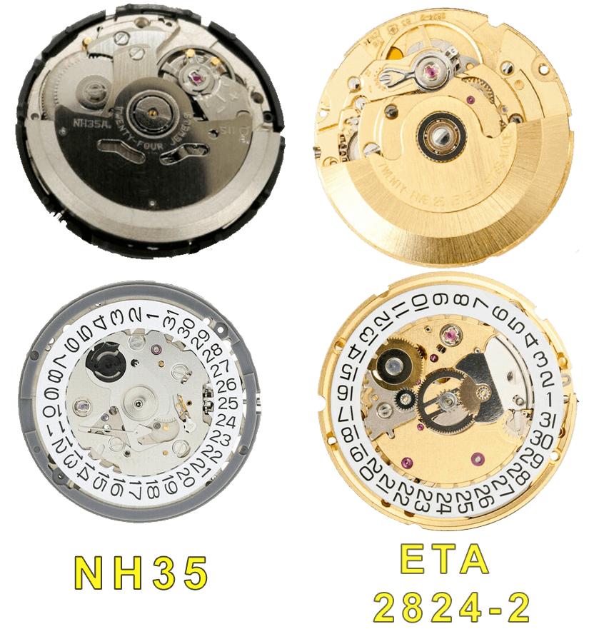 caliber nh35 compared to ETA 2824-2