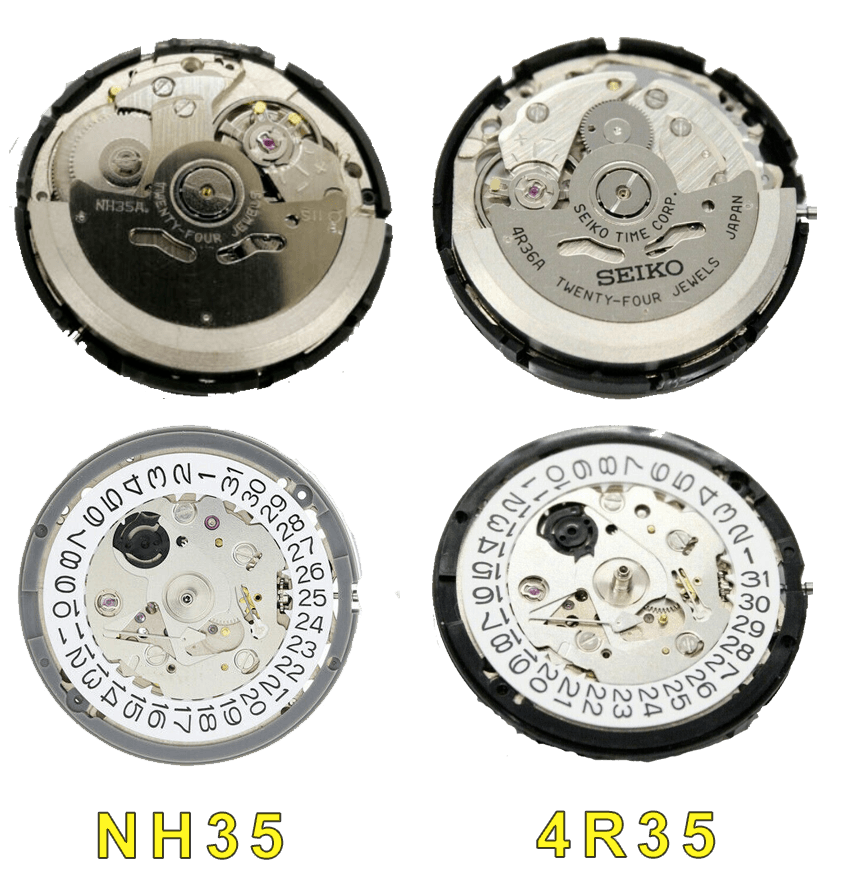 Caliber NH35 vs cal 4r35