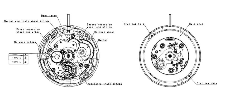 Seiko (SII) Caliber NH35a Movement