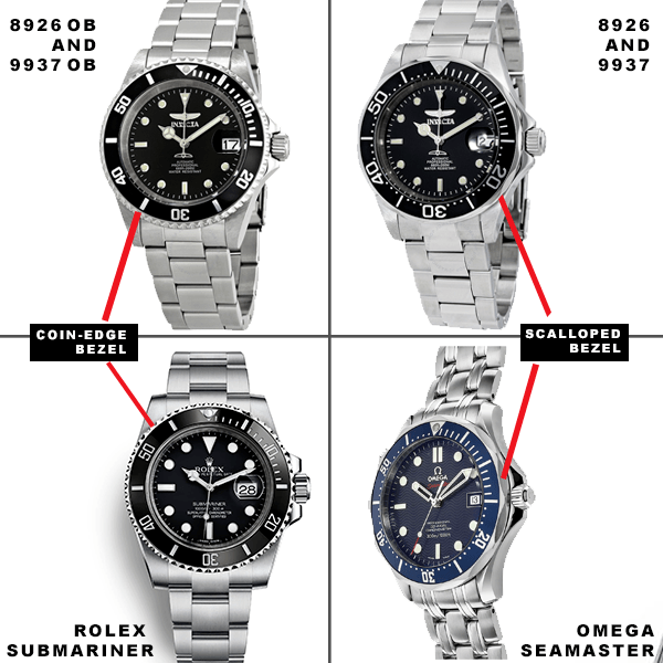 The difference between the 8926OB and 8926 Invicta Pro Diver watches