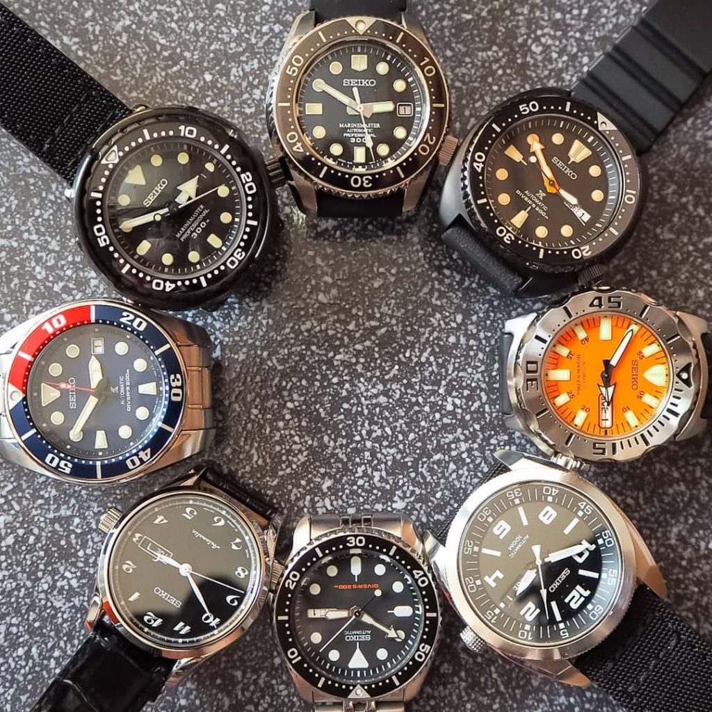 SOTC a collection of seiko divers