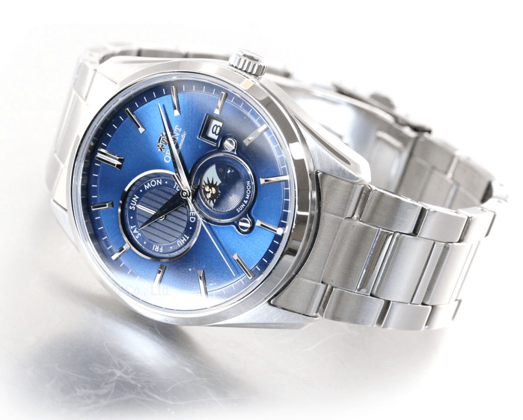Orient's blue dials are always the most mesmerizing - Sun and Moon Contemporary